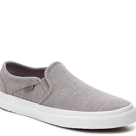 0b17e501c6 VANS Asher Chambray Slip-On Sneaker (Grey)